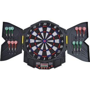 HOMCOM Elektronische Dartscheibe inklusive 12 Pfeile schwarz, weiß, blau, rot 49 x 5,5 x 54,6 cm (BxTxH) | Dartboard Dartscheibe Dartpfeile Spiel Board - Bild 1