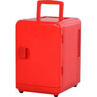 HOMCOM Mini Kühlschrank mit Wärmefunktion rot 18,5 x 22 x 26 cm (BxTxH) | Kühlbox Kühlbehälter Thermobox Warmhaltebox - Bild 1