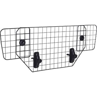 PawHut Hundeschutzgitter verstellbar schwarz (89–122) x 41 cm (BxH) | Kofferraumgitter verstellbares Trenngitter für Auto - Bild 1