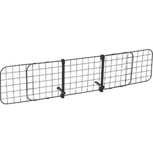 PawHut Hundeschutzgitter verstellbar schwarz (91–145) x 30 cm (BxH) | Kofferraumgitter verstellbares Trenngitter für Auto - Bild 1