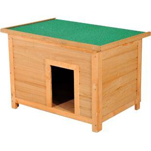 PawHut Hundehaus natur, grün 85 x 58 x 58 cm (LxBxH) | Hundehütte Hundehöhle Hütte für Hunde Hundeholzhütte - Bild 1