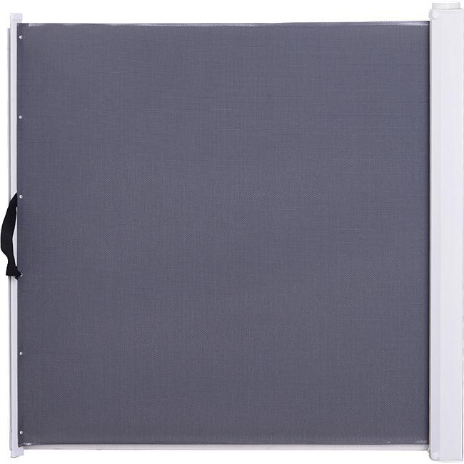PawHut Türschutzgitter einrollbar grau 5,5-115 x 5,5 x 82,5 cm (LxBxH)   Treppenschutzgitter Treppenschutz Hundegitter - Bild 1