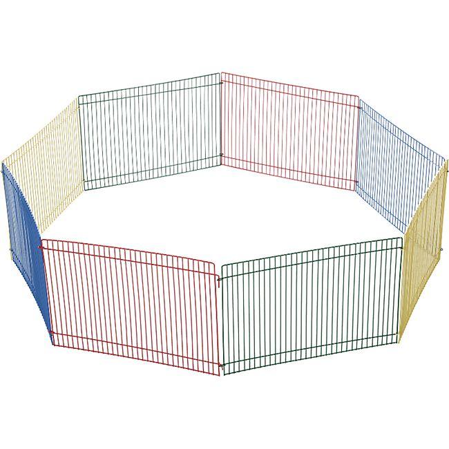 PawHut Welpenauslauf 8-teilig bunt 69 x 69 x 23 cm (LxBxH) | Welpenzaun Laufstall Freilaufgehege Freigehege - Bild 1