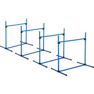 PawHut Agility Hürdenset als 4er Set blau 95 x 65 x 95 cm (LxBxH)   Hundetraining Hundesport Übungsset Hürdenlauf - Bild 1