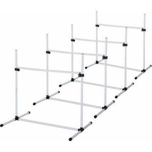 PawHut Agility Hürdenset als 4er Set weiß | Hundetraining Hundesport Übungsset Hürdenlauf - Bild 1