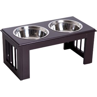 PawHut Futternapf für Hunde und Katzen 58,4 x 30,5 x 25,4 cm (LxBxH) | Fressnapf Futterschüssel erhöhter Hundenapf - Bild 1