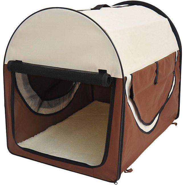 PawHut Hundetransportbox in Größe L L: 70 x 51 x 59 cm (LxBxH) | Hundebox Transportbox faltbar Hundetransportbox - Bild 1