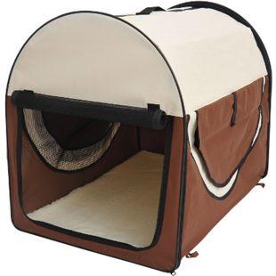 PawHut Hundetransportbox in Größe XXL XXL: 97 x 71 x 76 cm (LxBxH) | Hundebox Transportbox faltbar Hundetransportbox - Bild 1