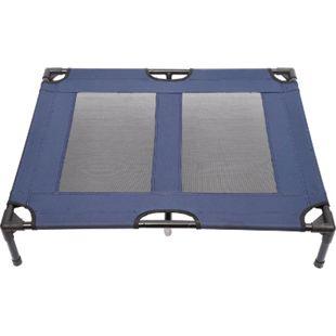 PawHut Hundeliege mit atmungsaktiven Bezug blau 92 x 76 x 18 cm (LxBxH)   Schlafplatz Hundebett Katzenbett Pet Schlafplatz - Bild 1