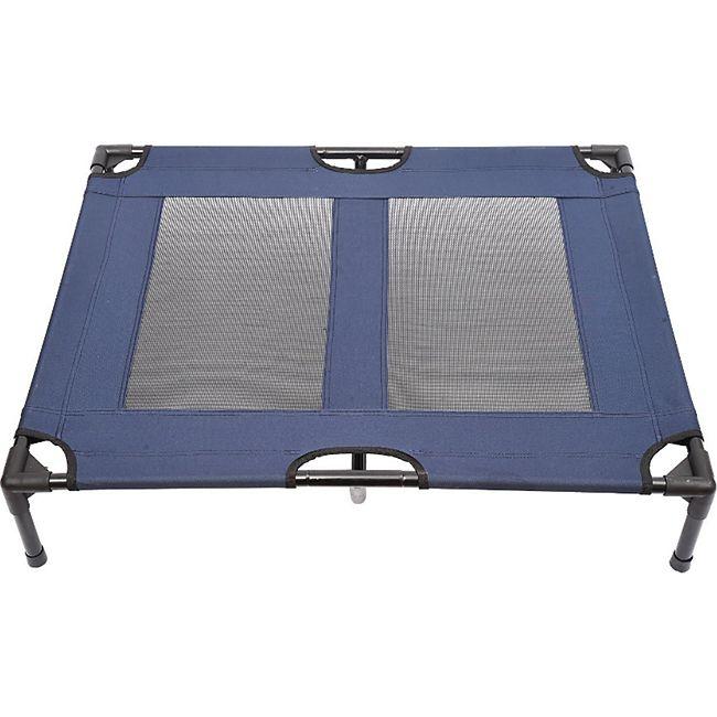 PawHut Hundeliege mit atmungsaktiven Bezug blau 92 x 76 x 18 cm (LxBxH) | Schlafplatz Hundebett Katzenbett Pet Schlafplatz - Bild 1