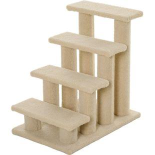 PawHut Katzentreppe mit 4 Stufen 63,5 x 43 x 60 cm | Tiertreppe Hundetreppe Treppe für Tiere - Bild 1
