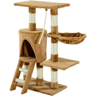 PawHut Kletterbaum für Katzen braun 30 x 55 x 96 cm (LxBxH) | Kratzbaum Katzenbaum Katzenkratzbaum Spielbaum - Bild 1