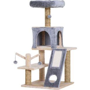 PawHut Kletterbaum für Katzen grau 48 x 49 x 108 cm (LxBxH) | Katzenhöhle Katzenkratzbaum Katzenbaum Spielbaum - Bild 1