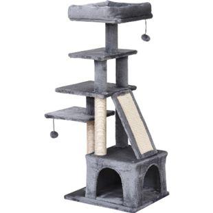 PawHut Katzenkratzbaum mit Spielbällen 50 x 40 x 114 cm (LxBxH) | Kratzbaum mit Sisalsäulen Katzenhöhle Katzenbaum - Bild 1