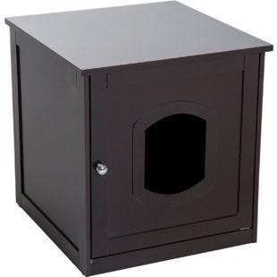PawHut Katzenhaus für Katzenbett oder Katzentoilette 51 x 51 x 48 cm (BxTxH) | Kätzchenschrank Katzenhöhle Kuschelhöhle Katzenbox - Bild 1