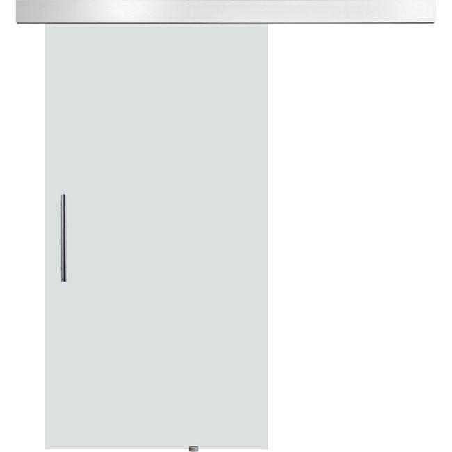 HOMCOM Glasschiebetür mit Griffstange silber, transparent | Glasschiebetür Tür Glastür Zimmertür Glaszimmertür - Bild 1