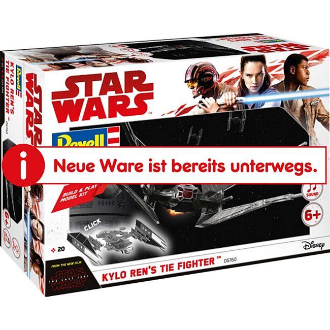 Revell 06760 Star Wars Modellbausatz Build & Play Kylo Rens TIE Fighter 1:70, ab 6 Jahre - Bild 1