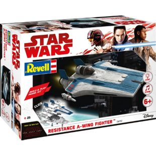 Revell 06762 Star Wars Modellbausatz Build & Play A-Wing Fighter blau 1:44, ab 6 Jahre - Bild 1