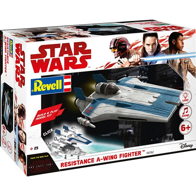 Revell 06762 Star Wars Modellbausatz Build & Play A-Wing Fighter blau 1:44, ab 6 Jahre - Bild 1