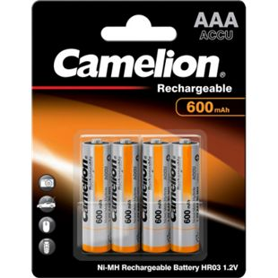 Camelion Akku Micro AAA Ni-MH 600mAh, 4er Blister - Bild 1