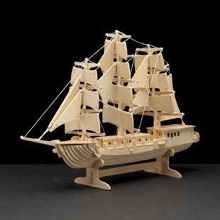 PEBARO Holzbausatz Segelschiff 80 Teile - Bild 1