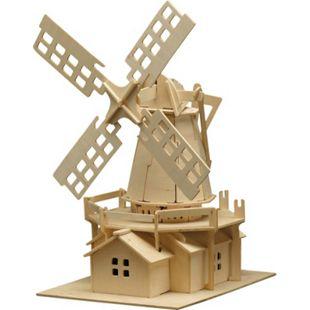 PEBARO Holzbausatz Windmühle 78 Teile - Bild 1