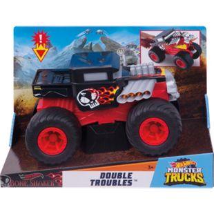 Hot Wheels Mattel GCG07 Hot Wheels Monster Trucks 1:24 Bone Shaker Double Troubles - Bild 1