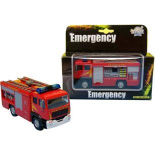 Kids Globe Traffic D/C Feuerwehr LKW Licht und Sound, Rückzug - Bild 1