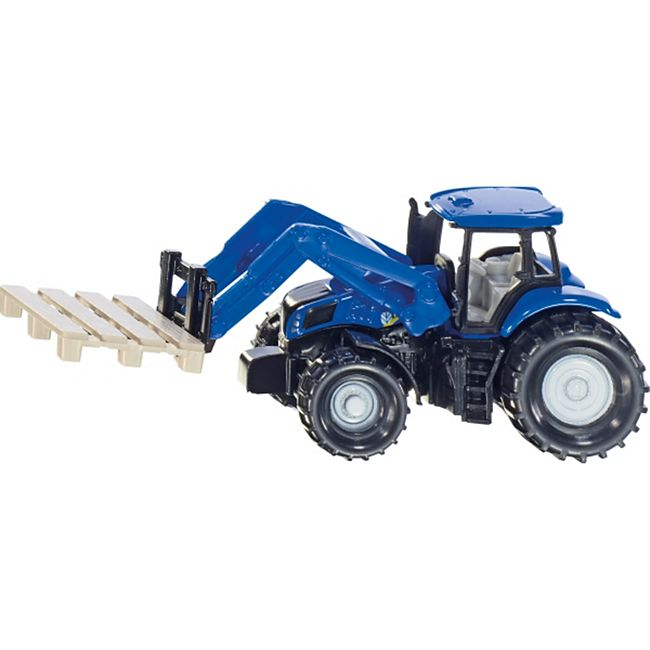 siku 1487 Traktor mit Palettengabel und Palette - Bild 1