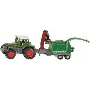 siku 1675 Traktor mit Holzhäcksler - Bild 1