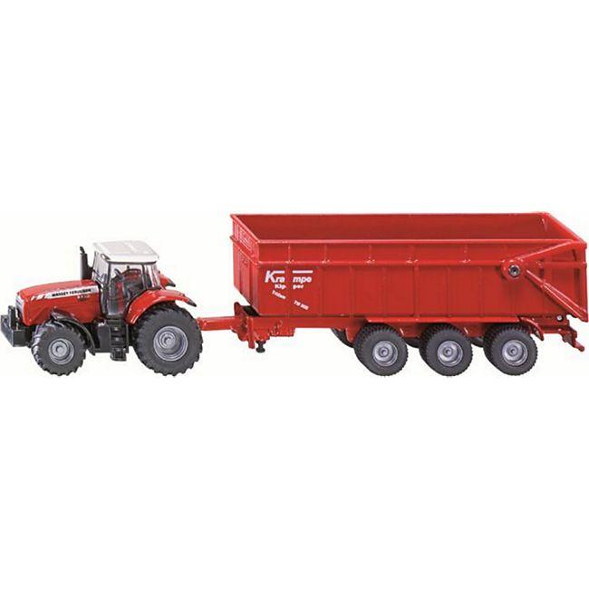 siku 1844 Massey Ferguson Traktor mit Anh#¤nger 1:87 - Bild 1