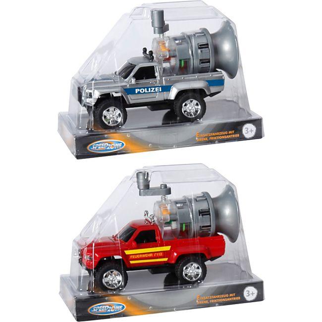 Speedzone Einsatzfahrzeug mit Sirene, Friktion, 15 cm - Bild 1