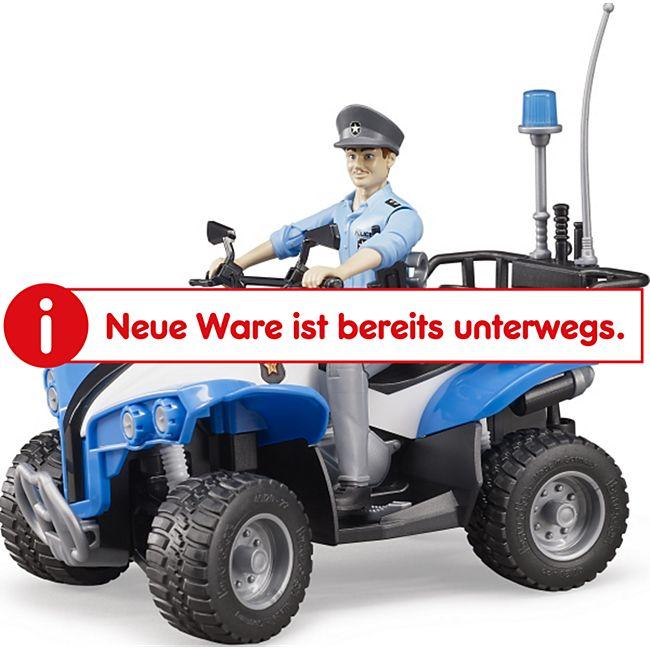 bruder 63010 Polizei Quad mit Polizistin und Ausstattung - Bild 1