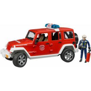 bruder 02528 Jeep Wrangler Unlimited Rubicon Feuerwehrfahrzeug mit Feuerwehrmann - Bild 1