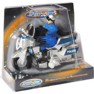 Speedzone Polizei Motorrad, 11 cm, Aufziehfunktion - Bild 1