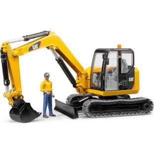 bruder 02466 Cat Minibagger mit Bauarbeiter - Bild 1