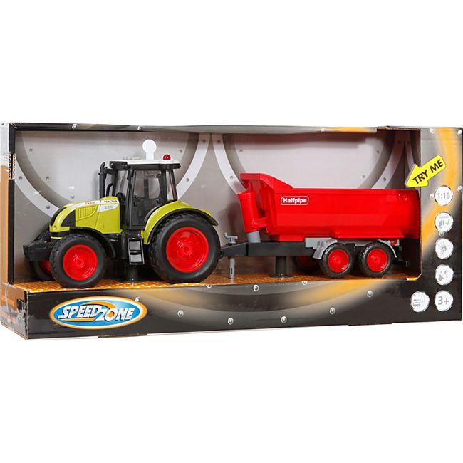 Speedzone Traktor mit Wannenkipper, Licht & Sound, Friktion - Bild 1