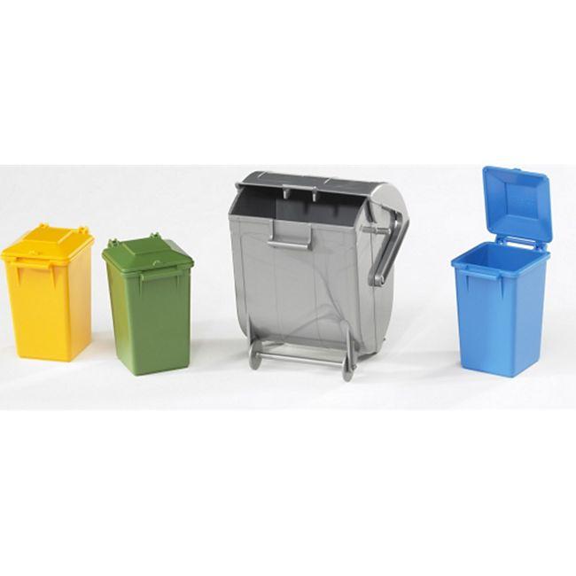 bruder 02607 Zubehör: Mülltonnen-Set - Bild 1