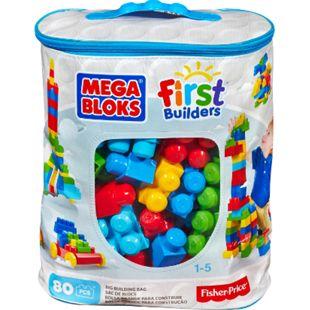 Mega Bloks Mattel  First Builders Bausteinebeutel Large 80 Teile - Bild 1