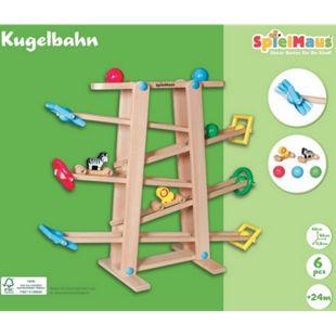 SpielMaus Holz Kugelbahn mit Rollelementen - Bild 1