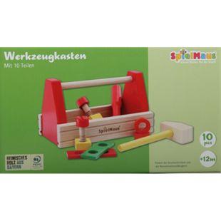 SpielMaus Holz Werkzeugkasten, 10-teilig - Bild 1