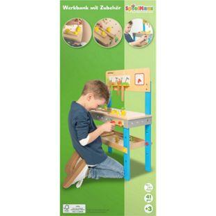 SpielMaus Holz Werkbank mit Zubehör - Bild 1