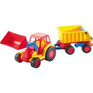 Wader Wader Basic Traktor mit Schaufel und Anhänger - Bild 1