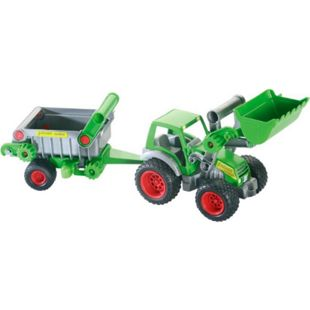 Wader Wader Traktor mit Frontschaufel und Kippanhänger - Bild 1