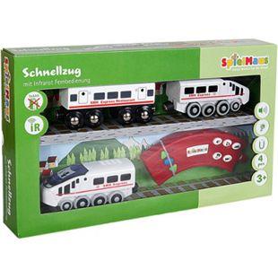 SpielMaus Holz Infrarot Zug mit Wagon - Bild 1