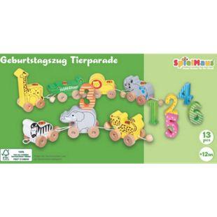 beeboo SpielMaus Holz Geburtstagszug Tierparade, 13-teilig - Bild 1