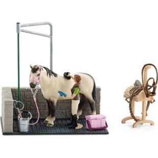 Schleich® Schleich Horse Club 42104 Waschplatz inkl. Pferd und Zubehör, ab 3 Jahre - Bild 1
