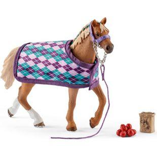 Schleich® Schleich Horse Club 42360 Englisches Vollblut mit Decke - Bild 1
