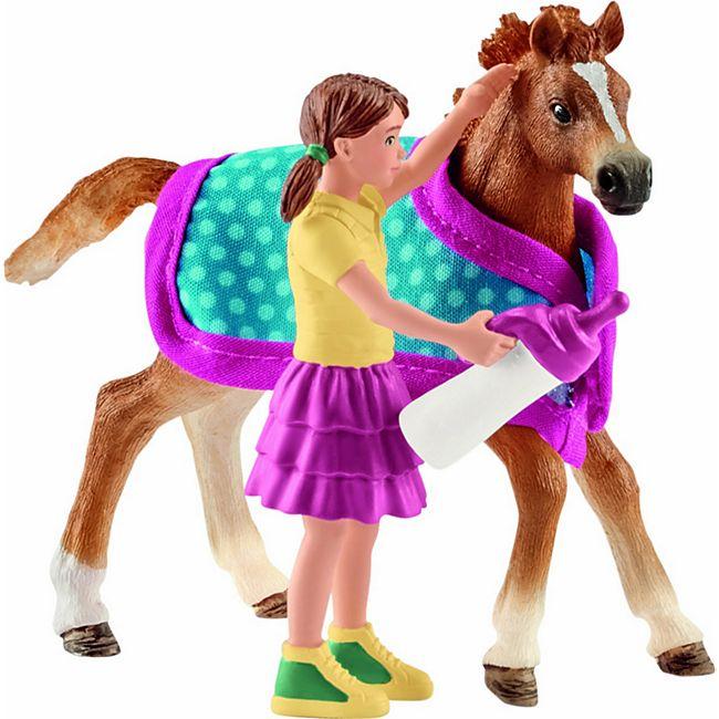 Schleich® Schleich Horse Club 42361 Fohlen mit Decke - Bild 1