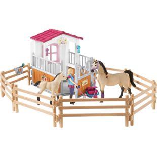 Schleich® Horse Club Schleich Horse Club 42369 Pferdebox mit Arabern und Pferdepflegerin - Bild 1